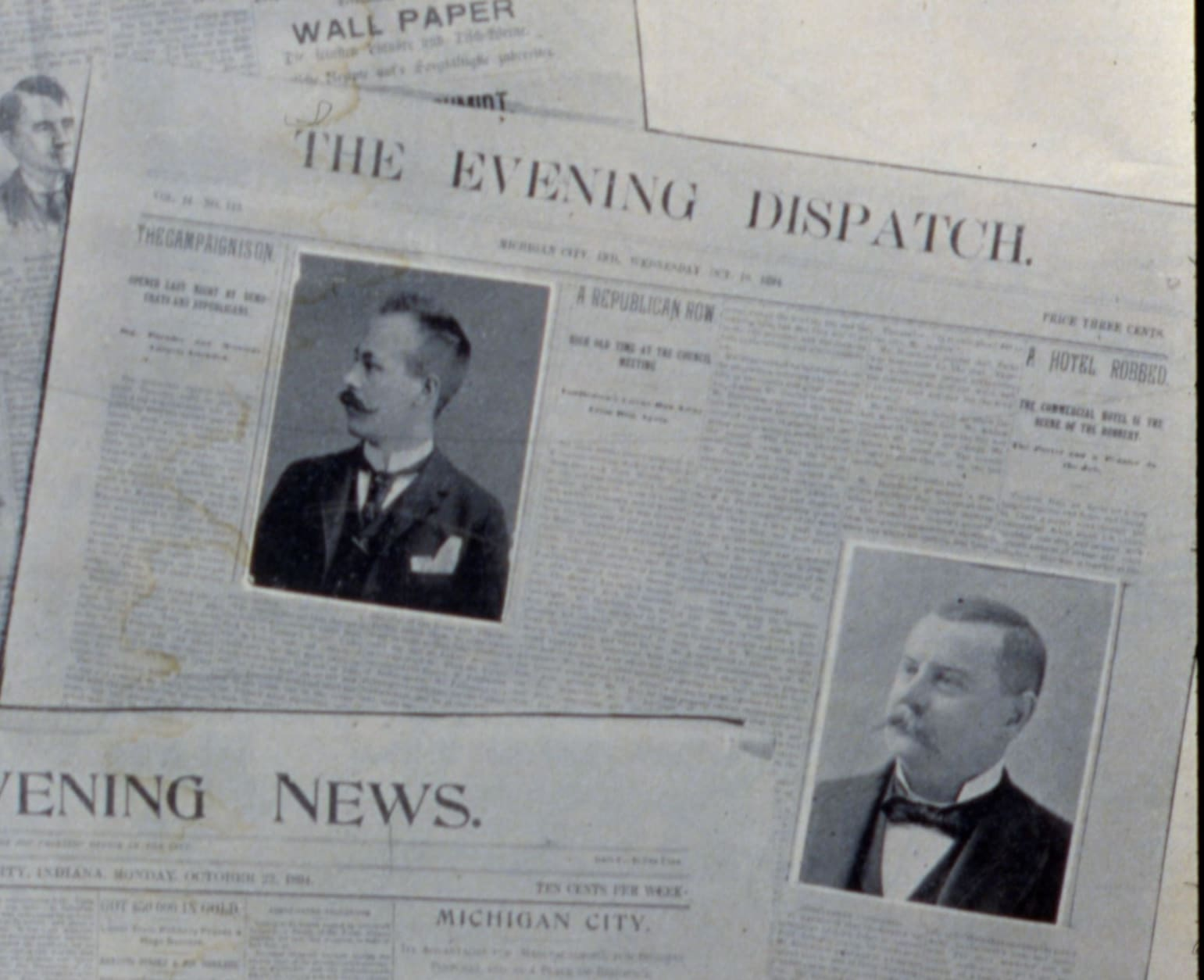 Old Evening Dispatch And Evening News