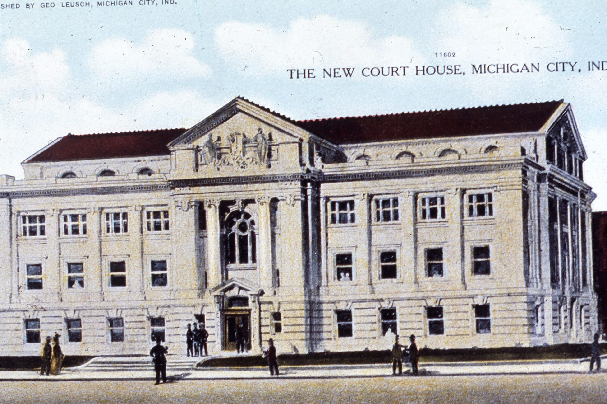 Michigan City Courthouse Postcard