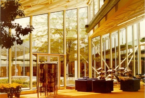 library interior, 1977