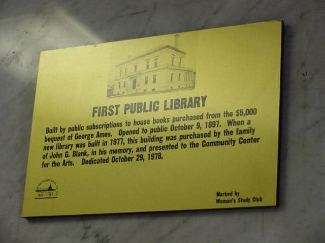 Plaque About Old Library