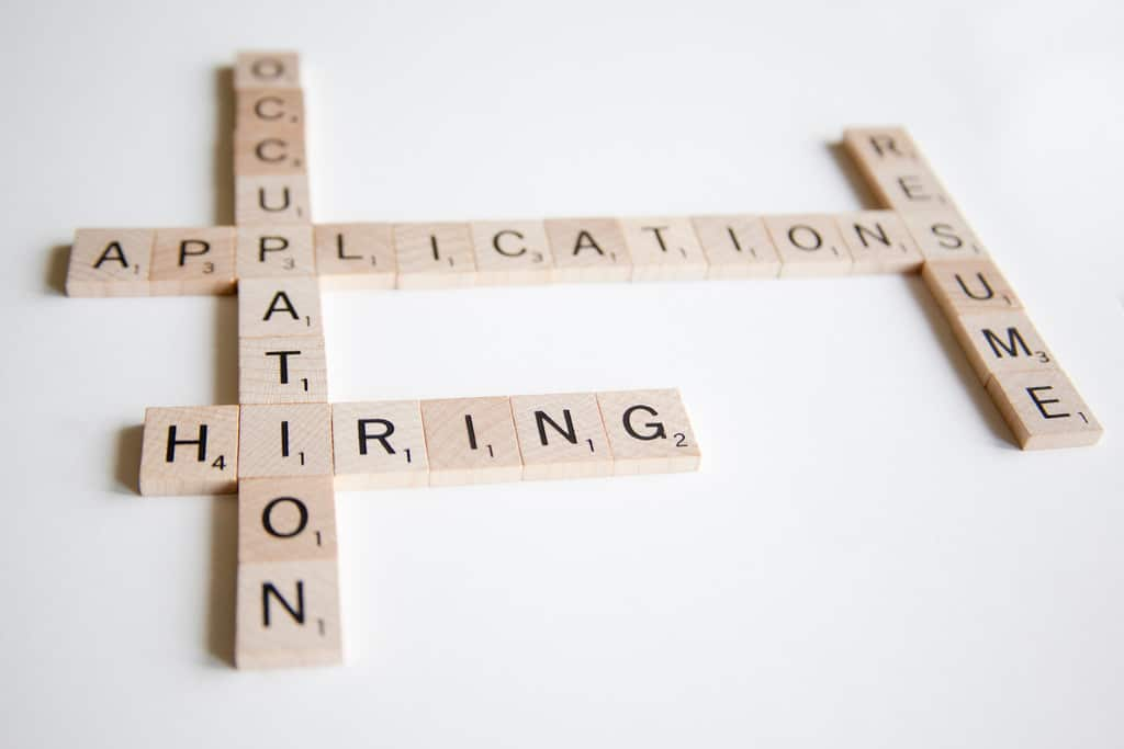 Scrabble Words--occupation, Hiring, Applications, Resume