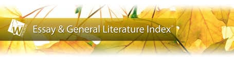 Essay & General Literature Index