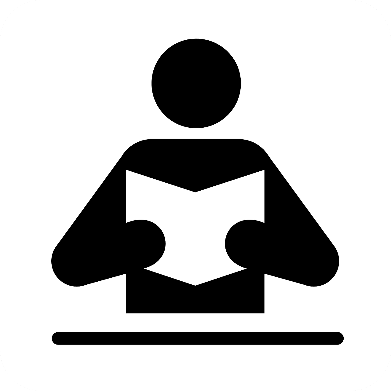 Person Holding Book Icon