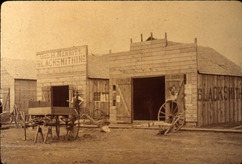 George Merritt's blacksmith shop