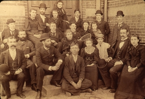 LaPorte High School faculty and seniors 1894