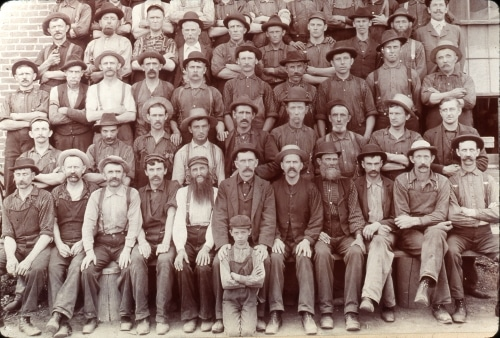 Group photo of Rumely company employees