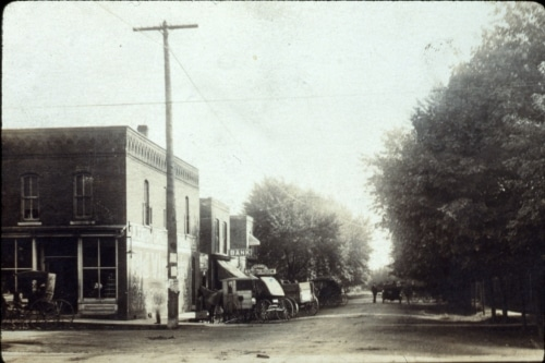 Downtown Wanatah, early 1900s