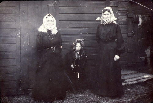 Two women and a young girl