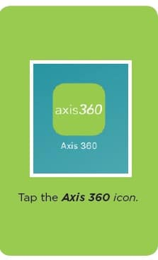 Tap the Axis 360 icon