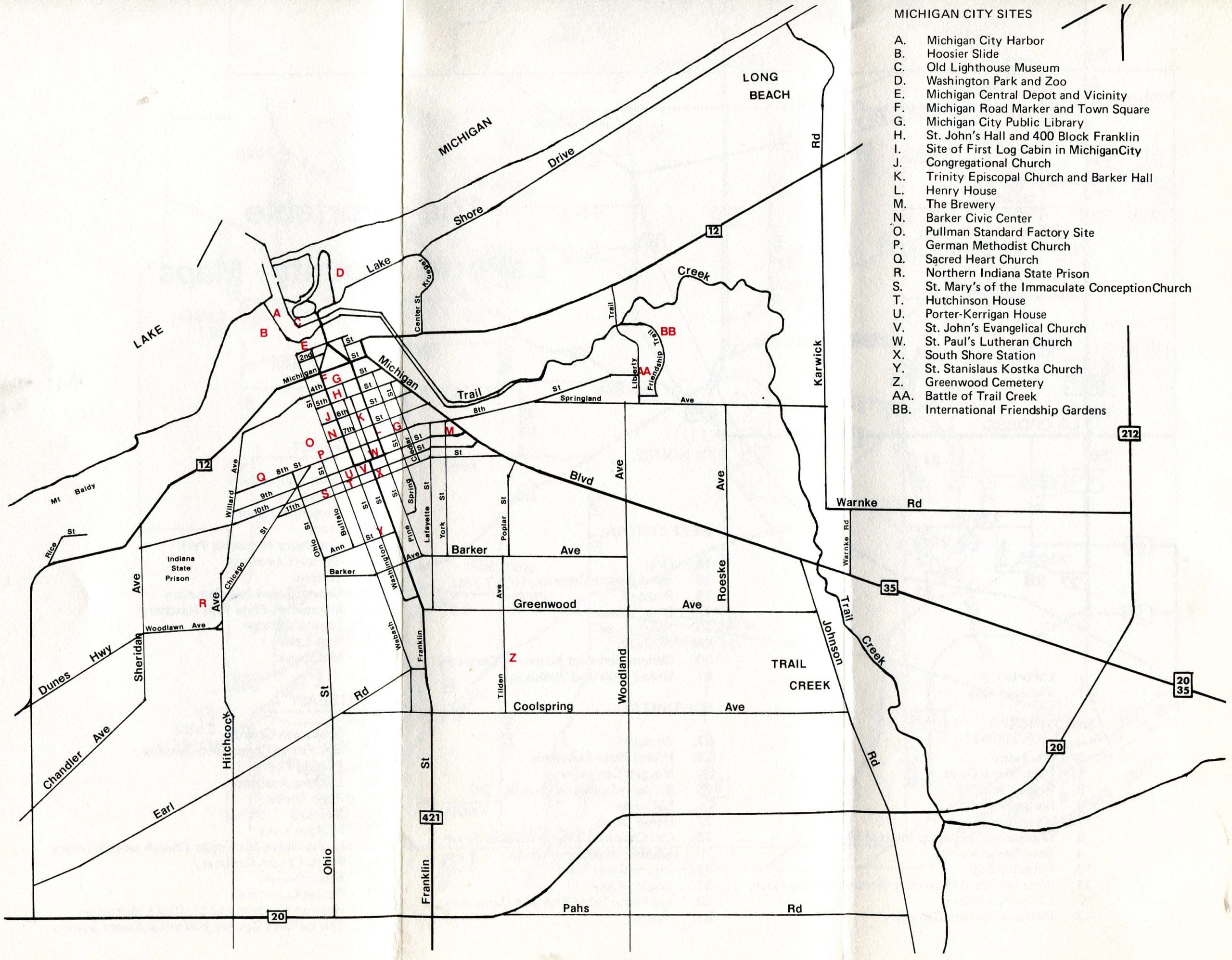 Portable LaPorte County -- map of Michigan City sites