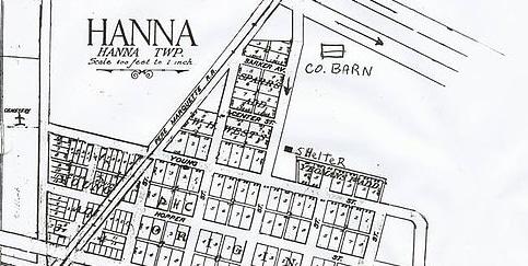 Hanna, Indiana Map