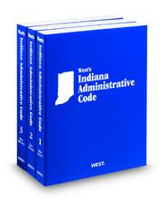 West's Indiana Administrative Code Book Covers