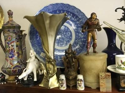 assortment of antiques and collectibles