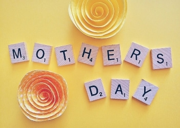 mother's day in scrabble tiles