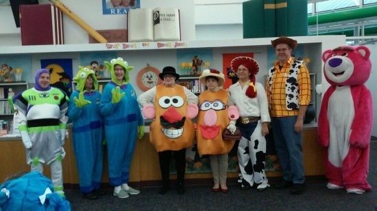 Youth Services staff as Toy Story characters