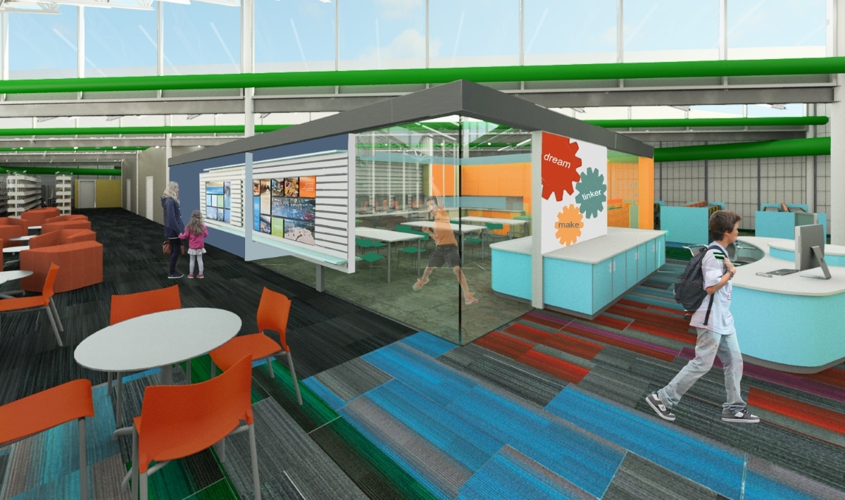 Rendering Of Exterior Of Makerspace