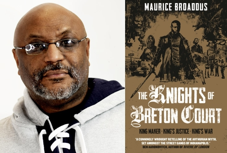 Marcus Broaddus and book jacket