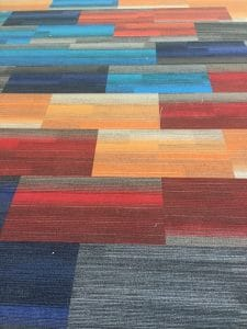 close-up view of carpet in Youth Services area