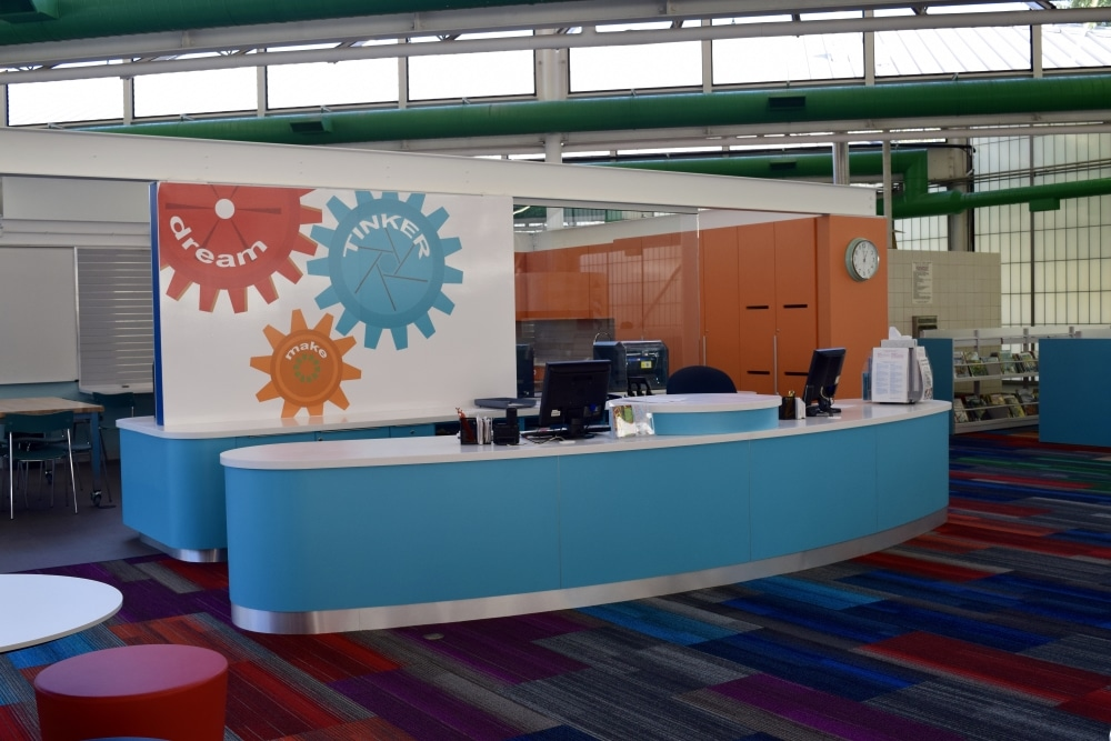 Youth Services Desk And Makerspace