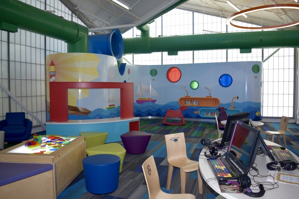 Children's Computers, Light Table, And BabyTalk Area