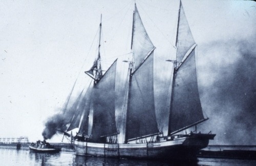 schooner in Lake Michigan