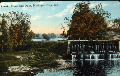 Roeske Pond and Dam postcard
