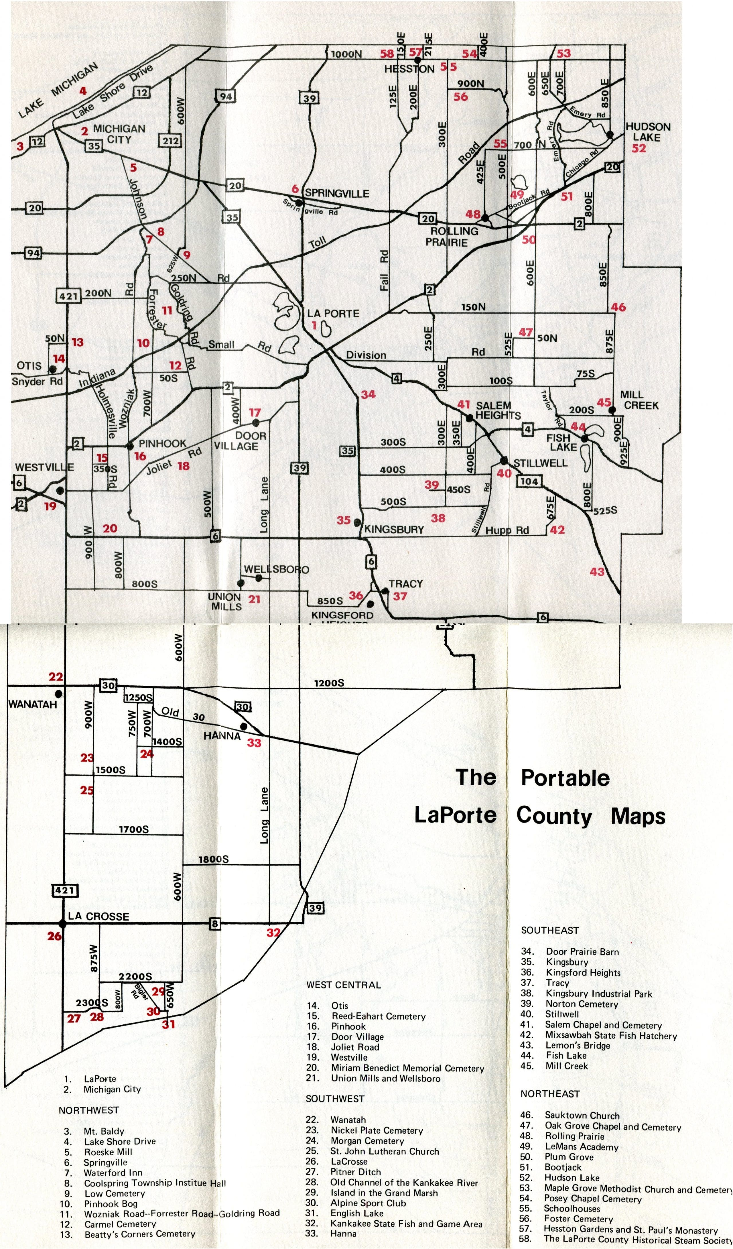 Portable LaPorte County -- county map