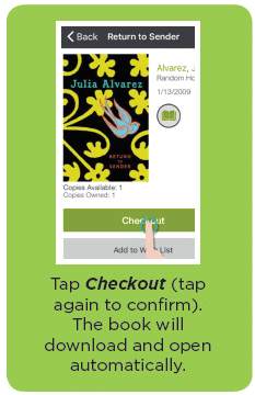 tap checkout, the book will download and open automatically