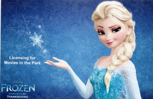 Frozen image - license for Movies in the Park