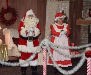 Santa and Mrs. Claus at the library