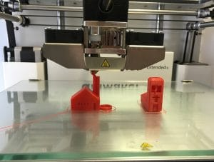3d printer printing building models