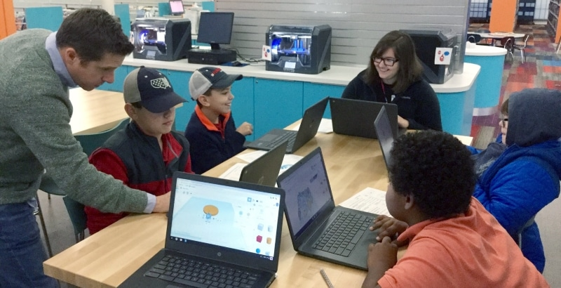 tinkercad group in makerspace