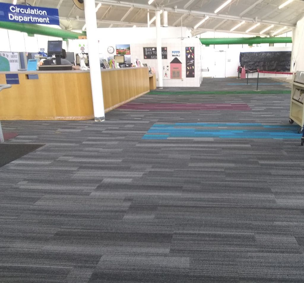 new carpet in front lobby