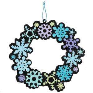 snowflake wreath craft