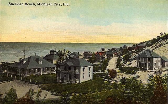 Sheridan Beach postcard