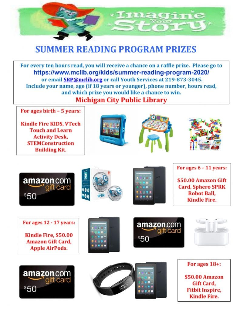 Summer Reading Program prizes
