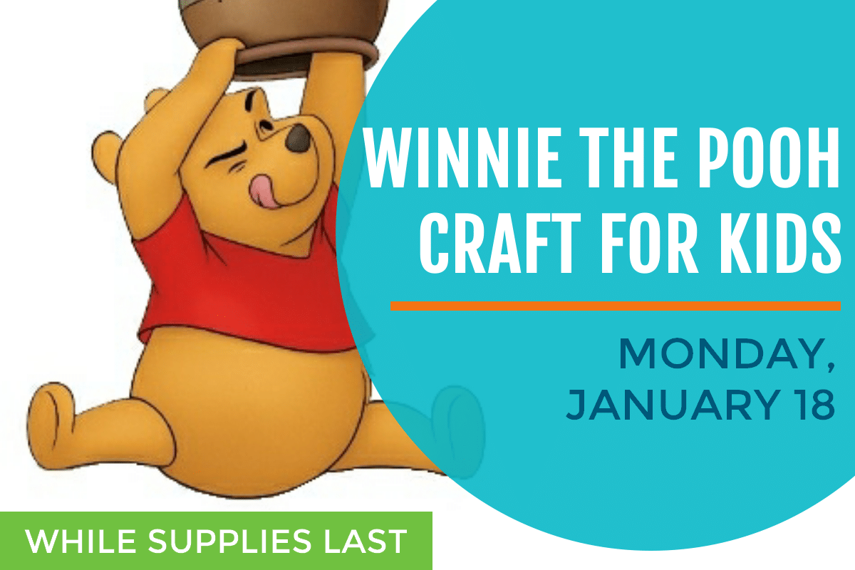 Winnie the Pooh Day craft for kids, January 18