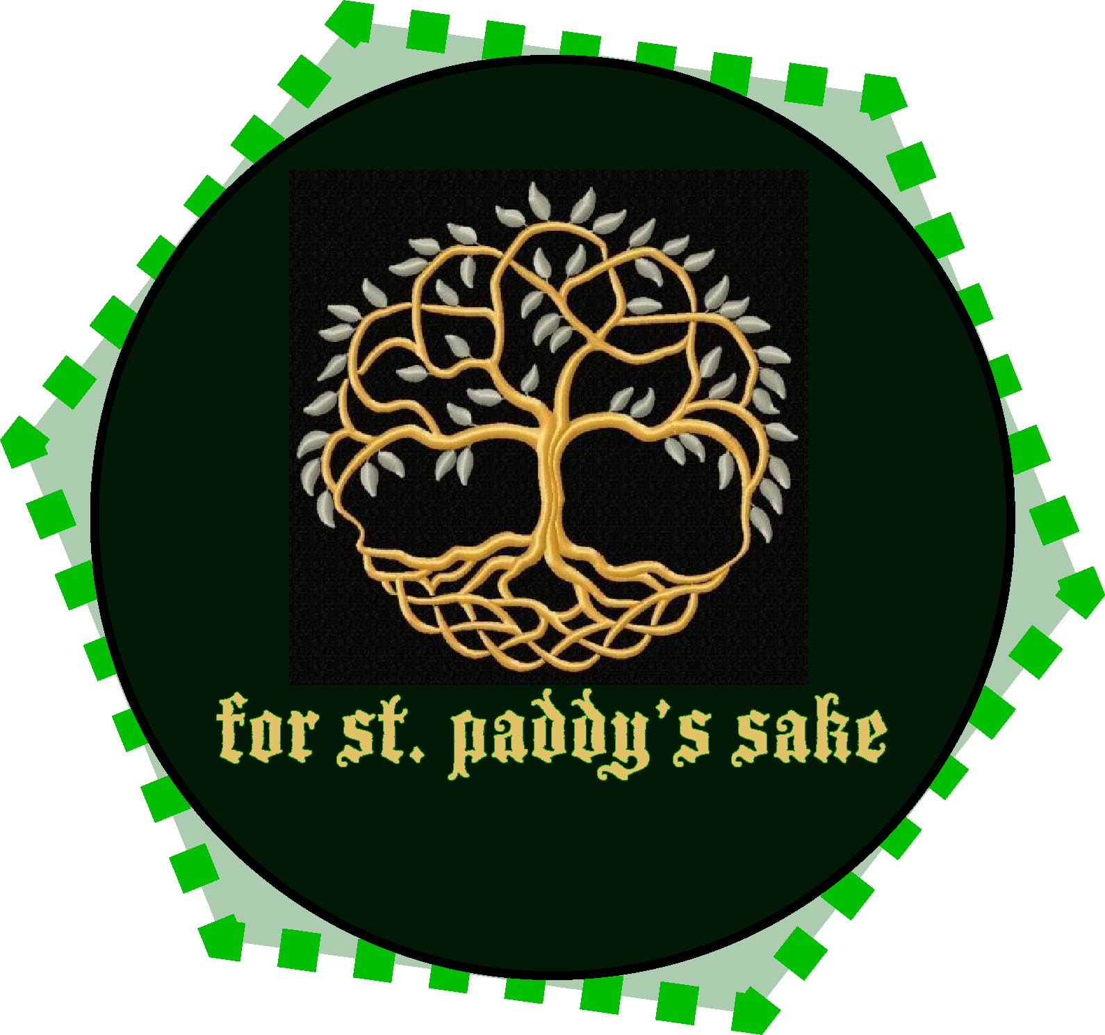 For St. Paddy's sake logo with tree